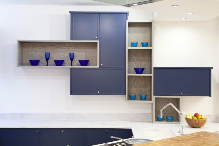 A Quirky Design Using Lay-on Kitchen Cabinets