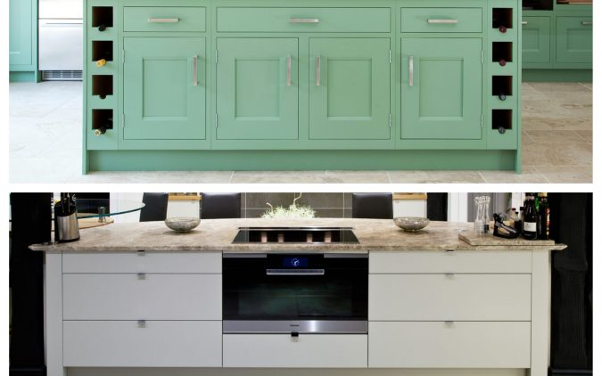 Shaker and flat kitchen cabinet door examples