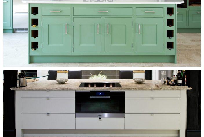 Shaker And Flat Kitchen Cabinet Door Examples