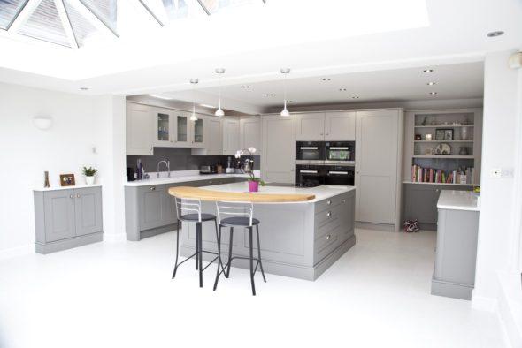 Warm Grey Kitchen In Chislehurst