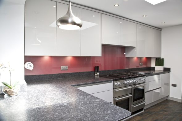 A Contemporary Galley Kitchen In Orpington